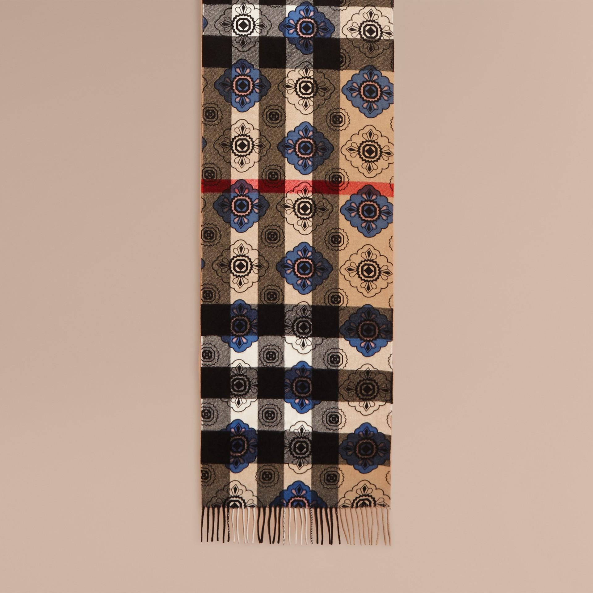 Двусторонний шарф с комбинированным принтом - изображение 2