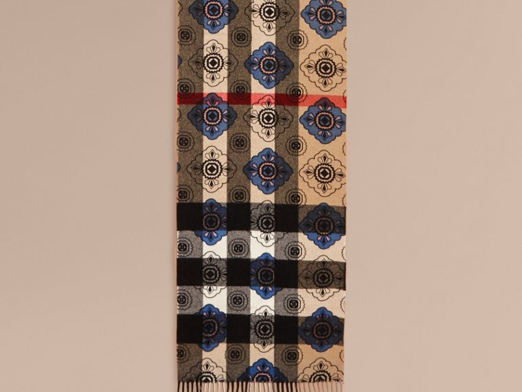 Двусторонний шарф с комбинированным принтом - cell image 1