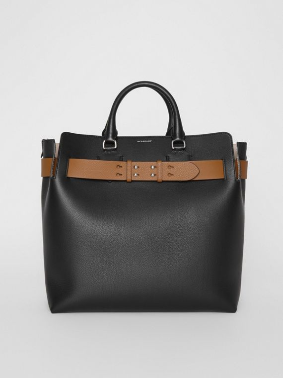 Grand sac The Belt en cuir (Noir)