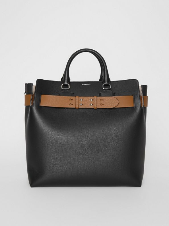 The Large Leather Belt Bag in Black