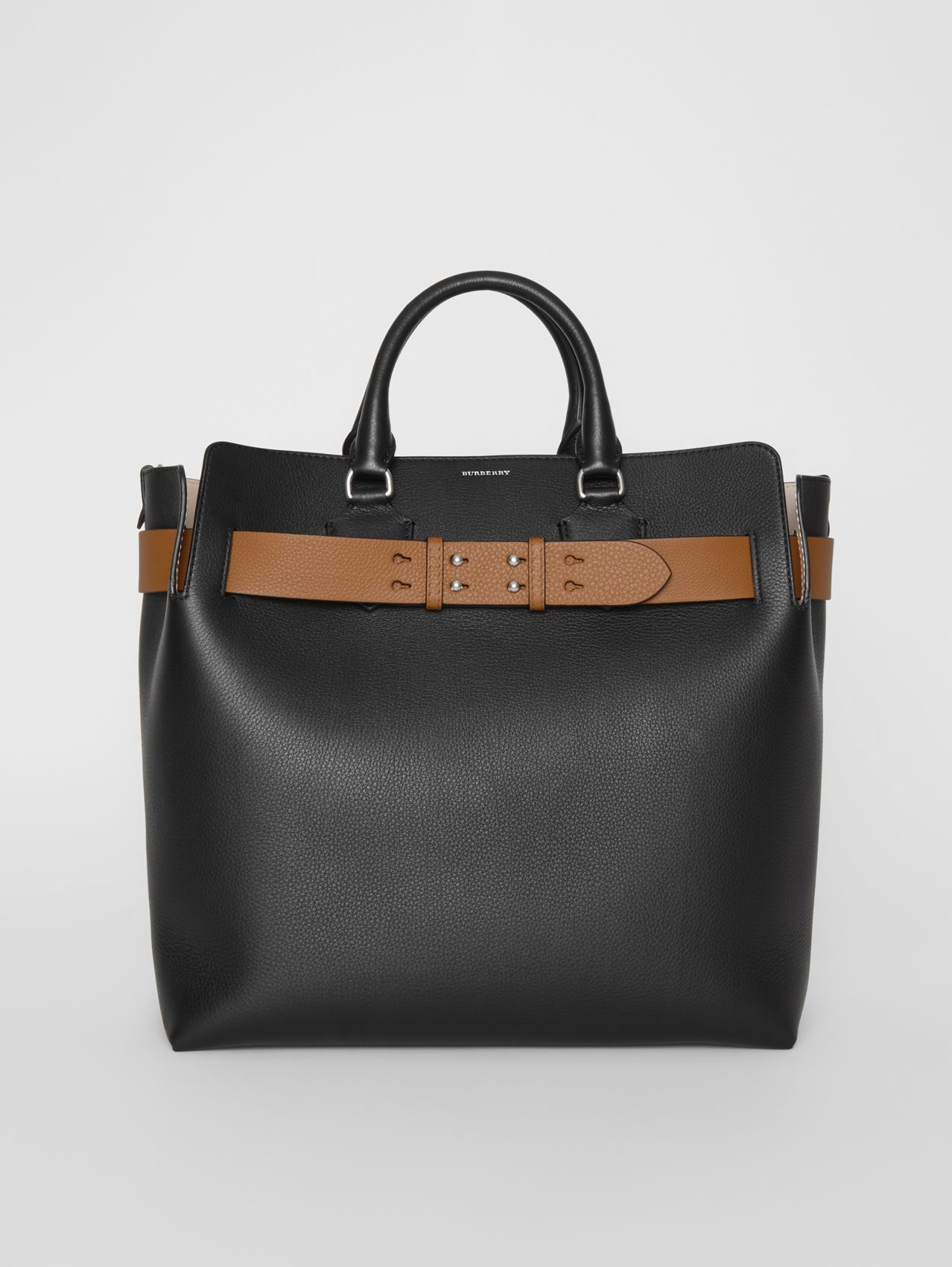 The Large Leather Belt Bag (Black)