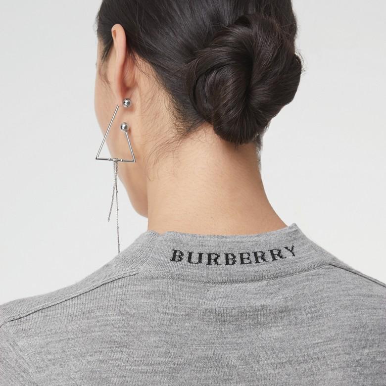 Burberry - Pull à col ras du cou en laine mérinos - 2