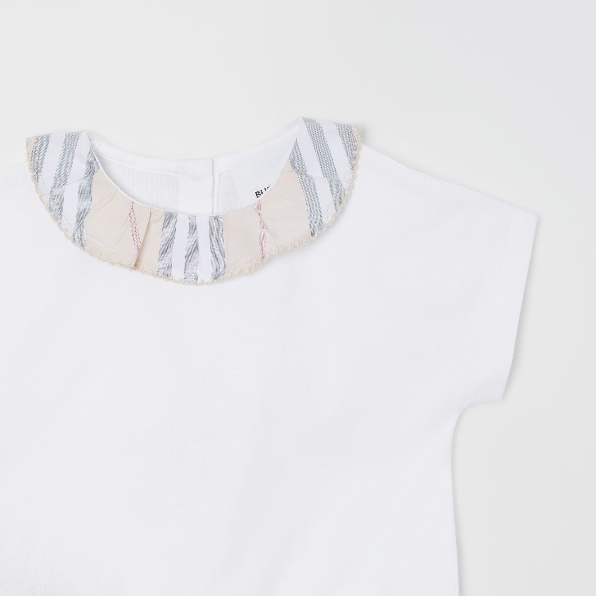 Icon Stripe Cotton Three-piece Baby Gift Set in Pale Stone - Children | Burberry - gallery image 10