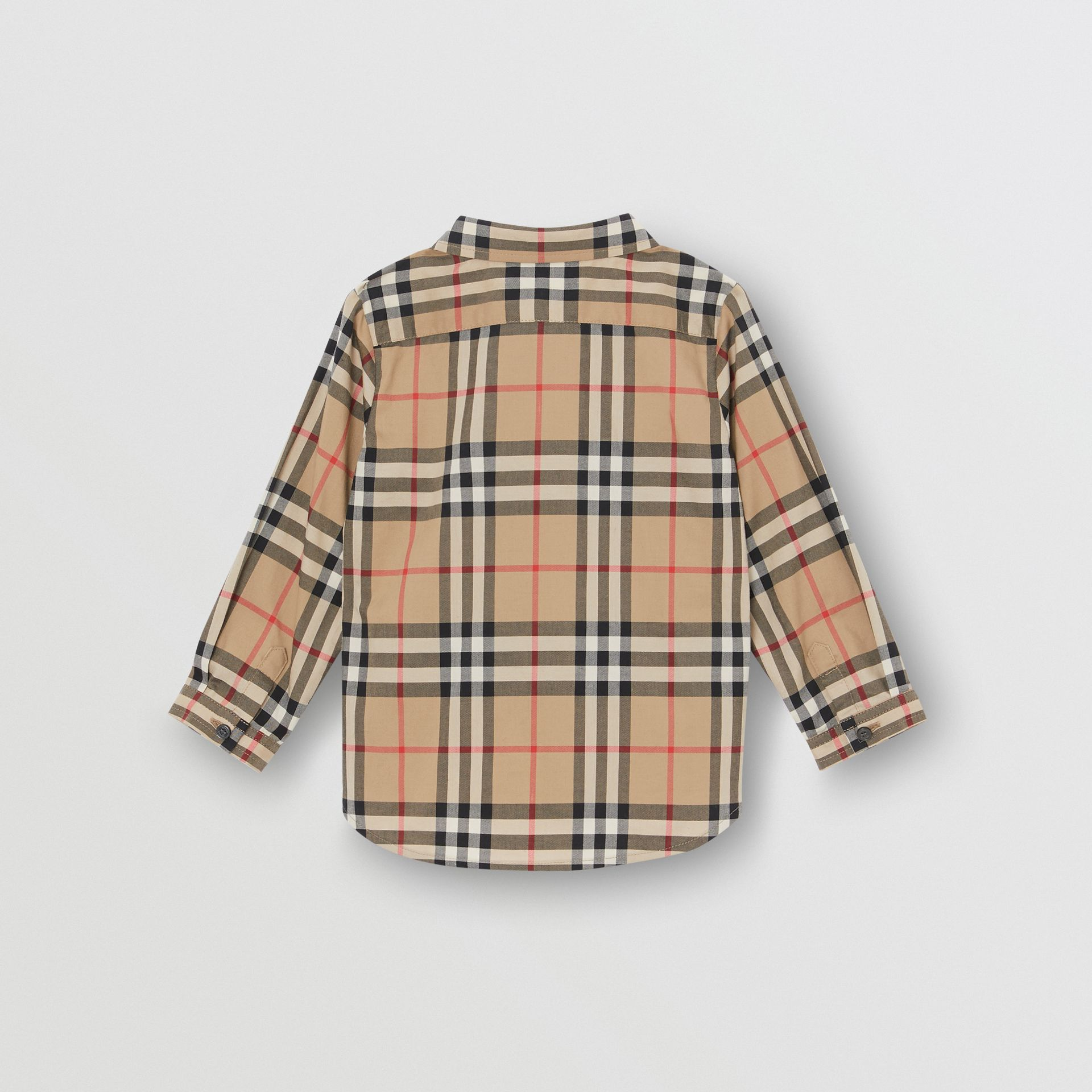 Vintage Check Cotton Shirt in Archive Beige - Children | Burberry Australia - gallery image 3