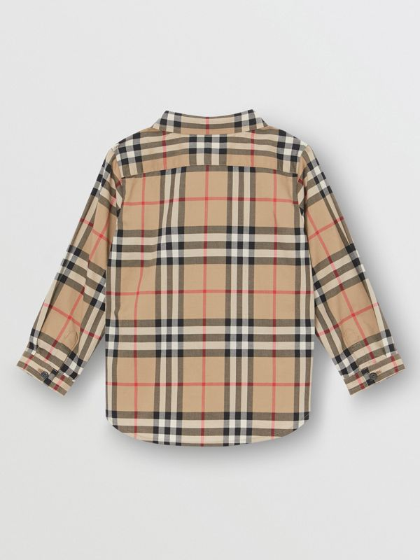Vintage Check Cotton Shirt in Archive Beige - Children | Burberry Australia - cell image 3