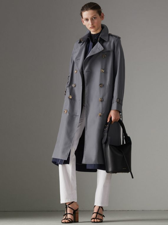 Trench coat Heritage The Kensington lungo (Grigio Medio)