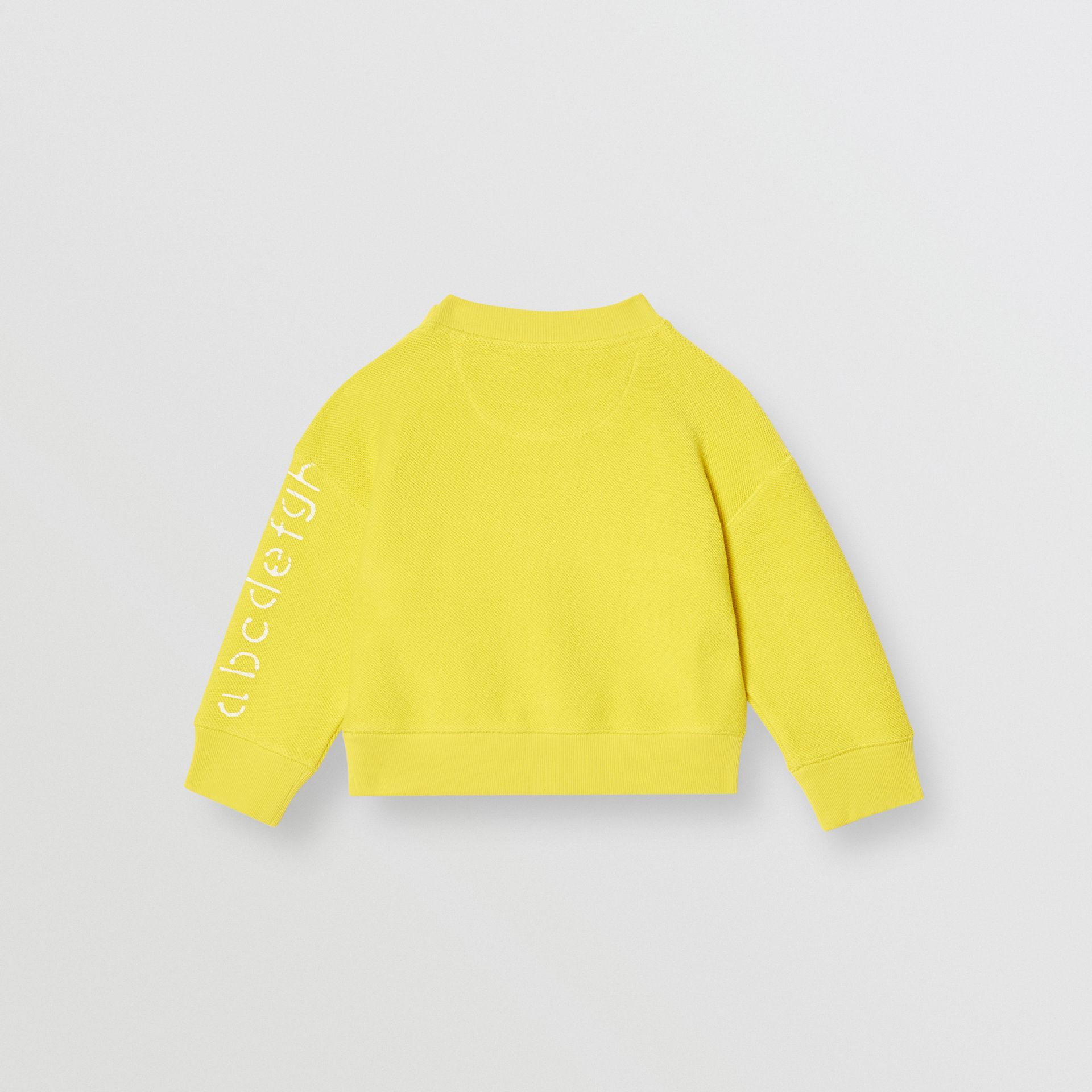 Stencil Logo Print Cotton Sweatshirt in Citron - Children | Burberry - gallery image 4