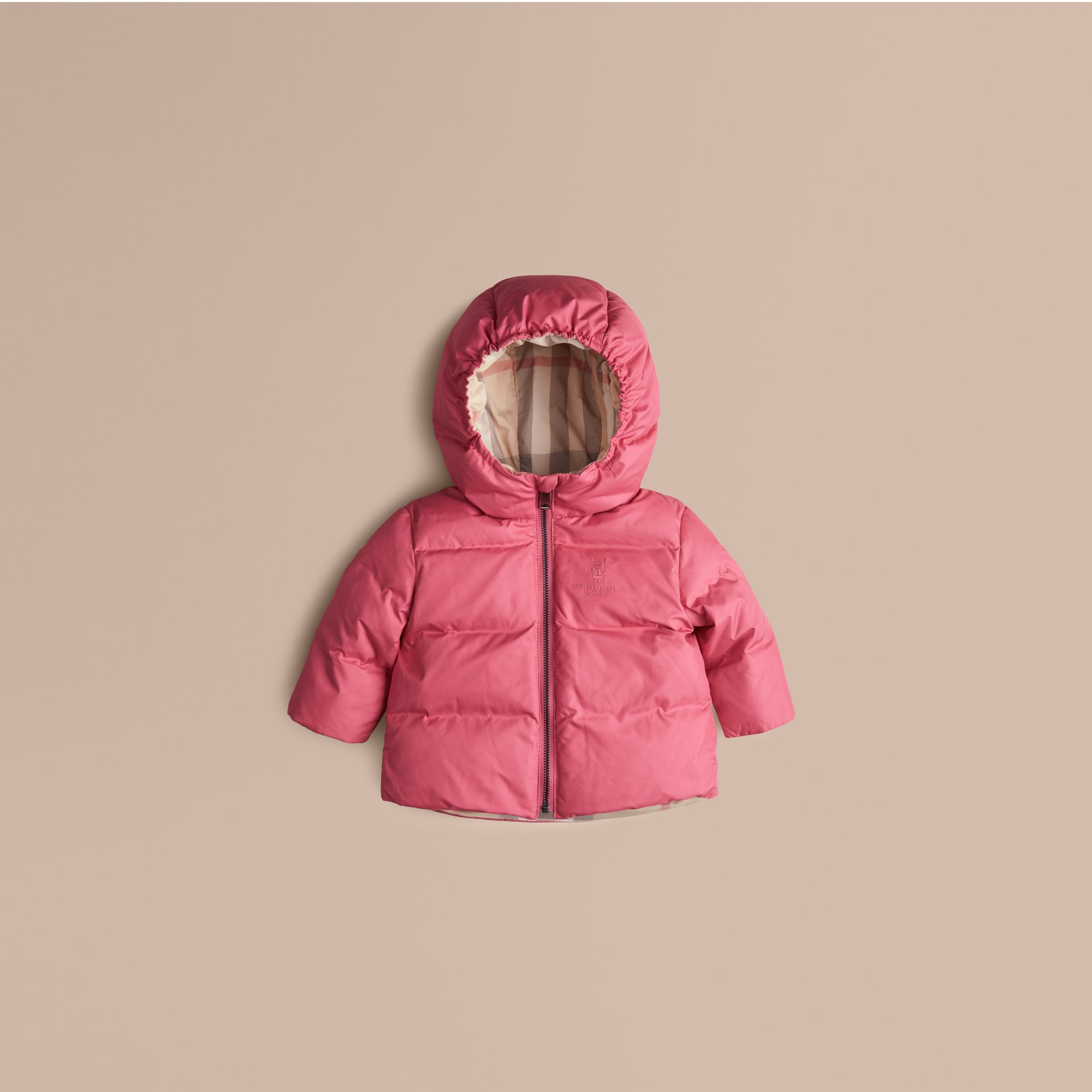 Camelia pink Check-Lined Puffer Jacket Camelia Pink - gallery image 1