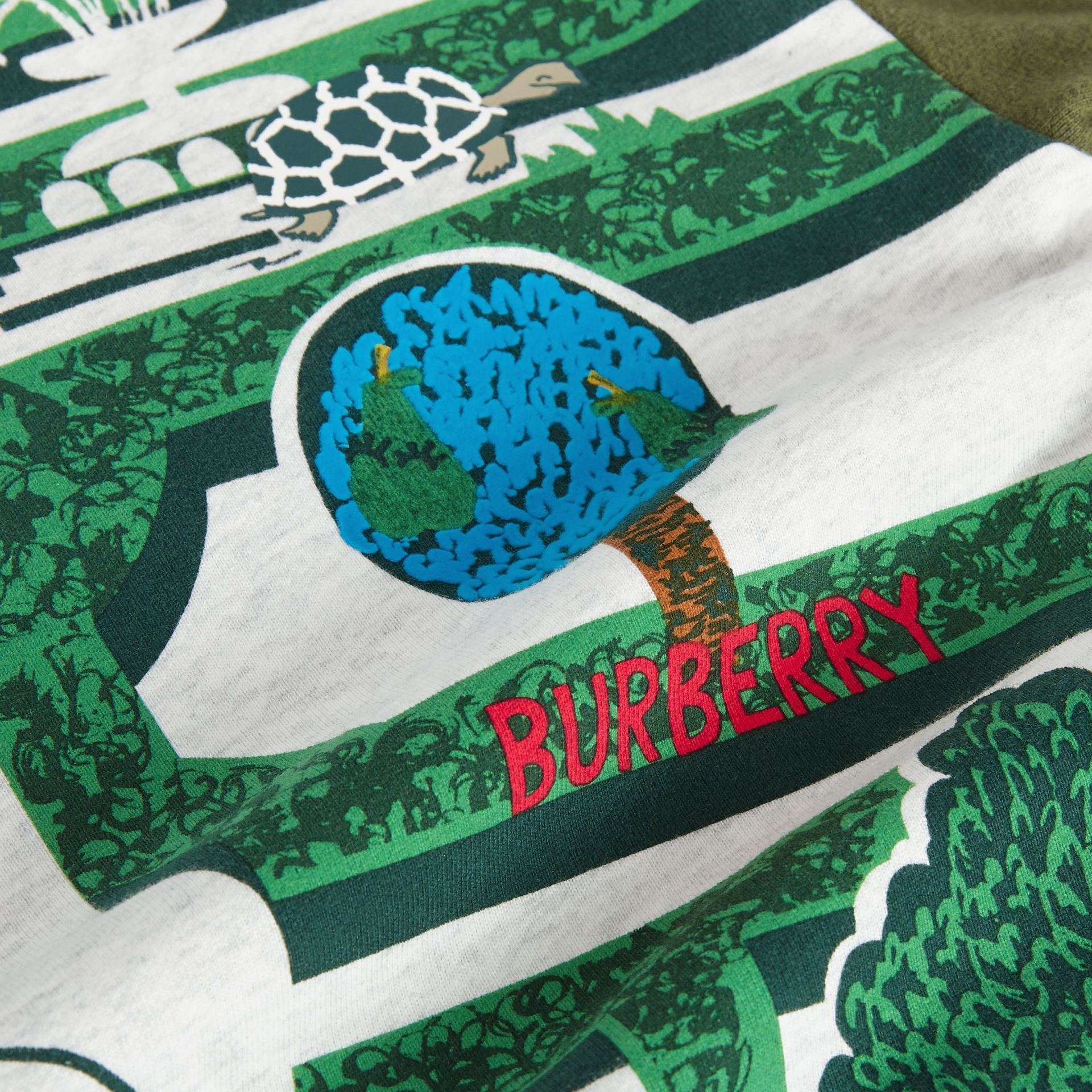 Hedge Maze Print Cotton Sweatshirt in Multicolour | Burberry Australia - gallery image 1