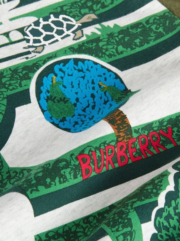 Hedge Maze Print Cotton Sweatshirt in Multicolour | Burberry Australia - cell image 1