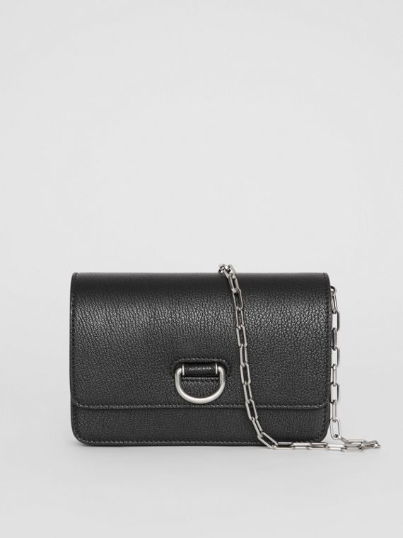 Borsa The D-ring mini in pelle (Nero)