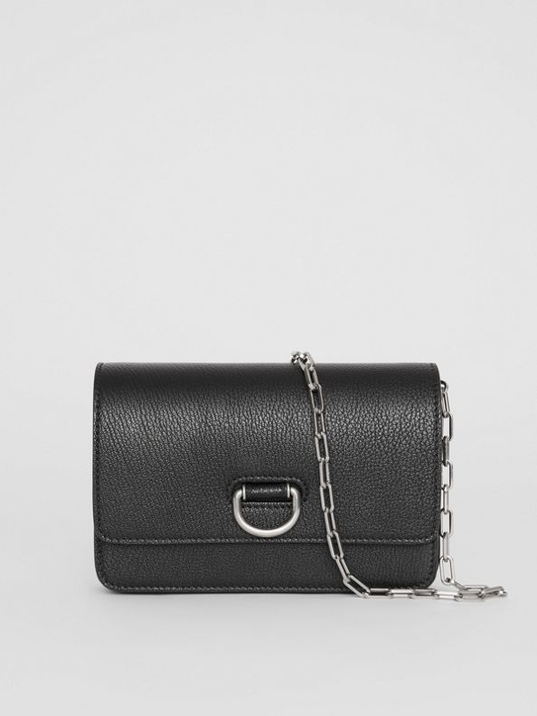 The Mini Leather D-ring Bag in Black