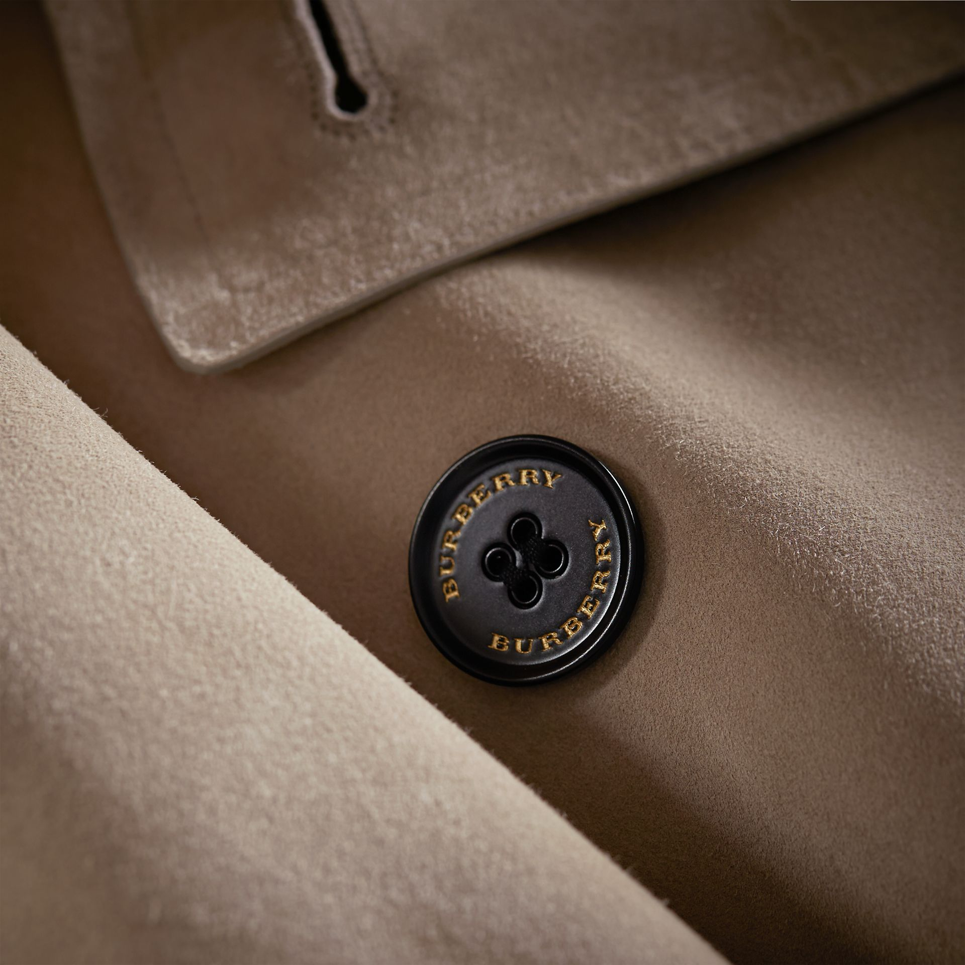 Suede Asymmetric Trench Coat - Women | Burberry - gallery image 2