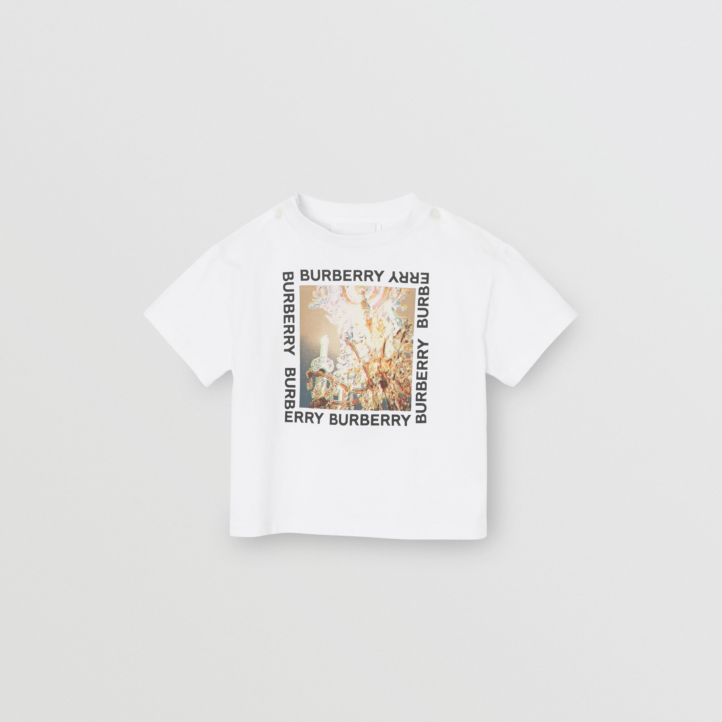 Chandelier Print Cotton T-shirt in White | Burberry - 1