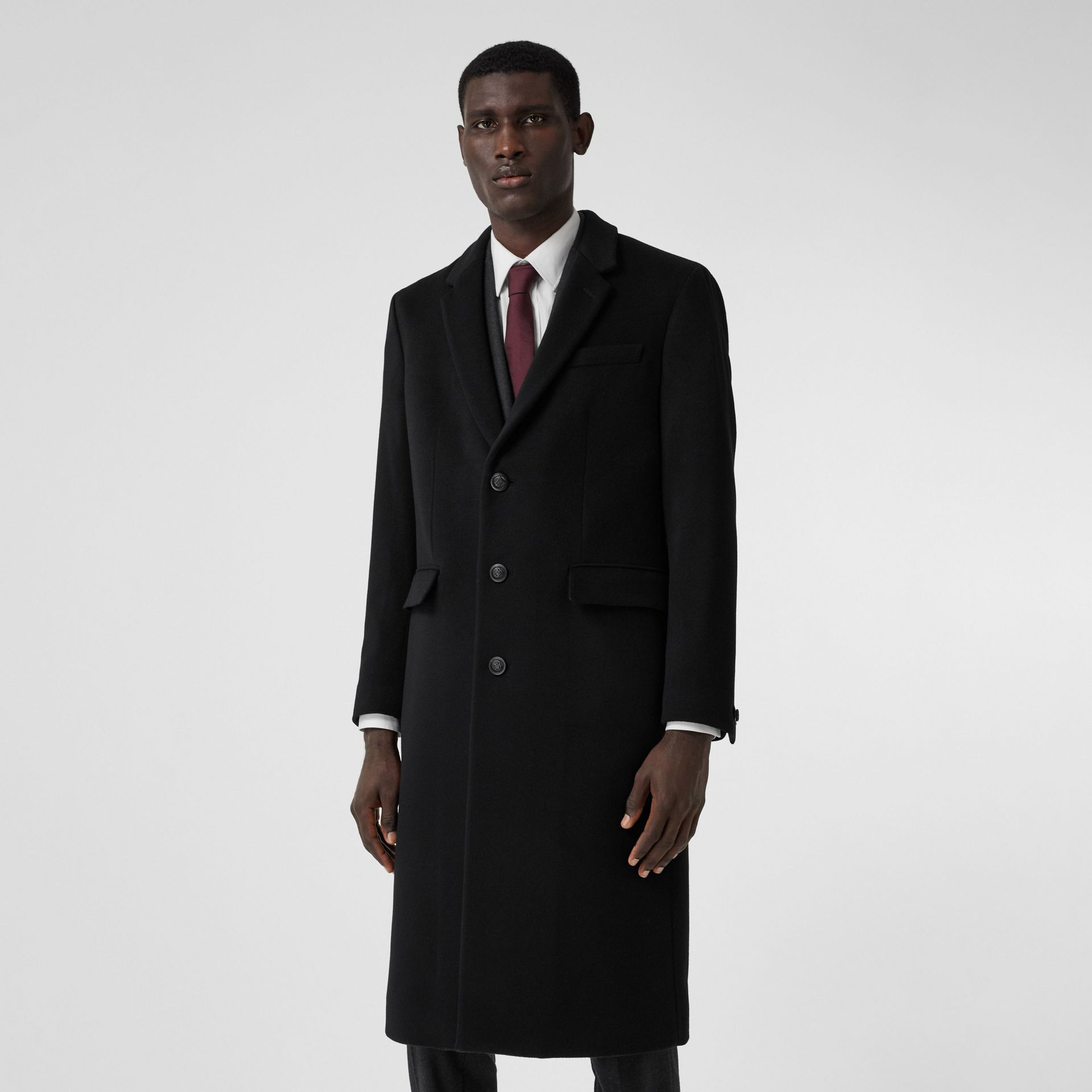 Double-faced Cashmere Tailored Coat in Black - Men | Burberry - gallery image 5