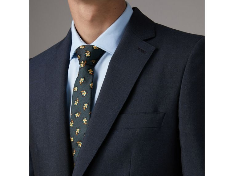Slim Fit Wool Half-canvas Tuxedo in Navy - Men | Burberry United Kingdom - cell image 1