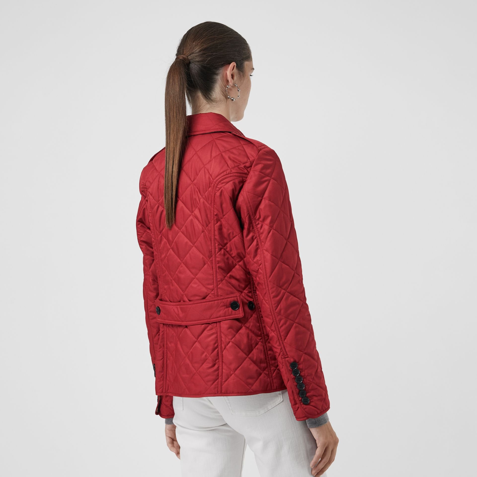 Diamond Quilted Jacket in Parade Red | Burberry - gallery image 2