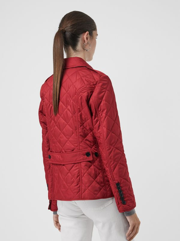 Diamond Quilted Jacket in Parade Red | Burberry - cell image 2