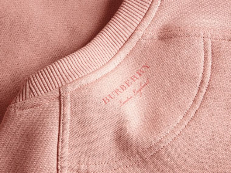 Sweat-shirt en jersey avec manches bouffantes (Rose Platiné) - Femme | Burberry - cell image 1