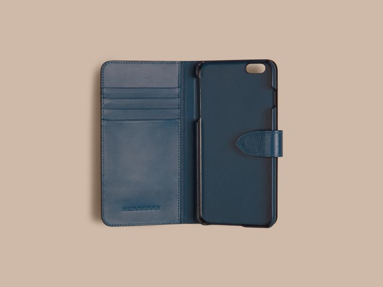 Mineral blue London Leather iPhone 6 Plus Flip Case Mineral Blue - cell image 1