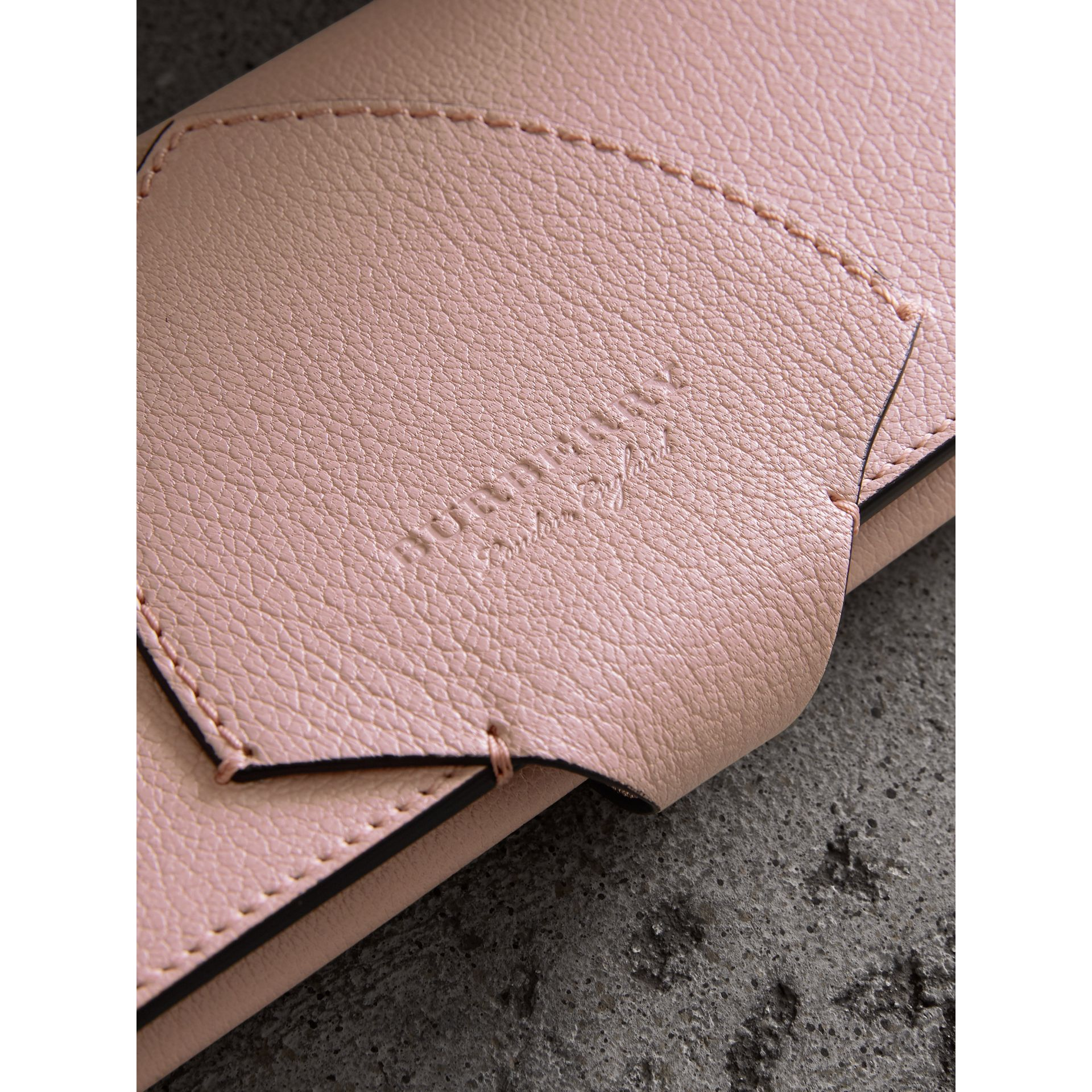 Equestrian Shield Two-tone Leather Continental Wallet in Pale Ash Rose - Women | Burberry - gallery image 1