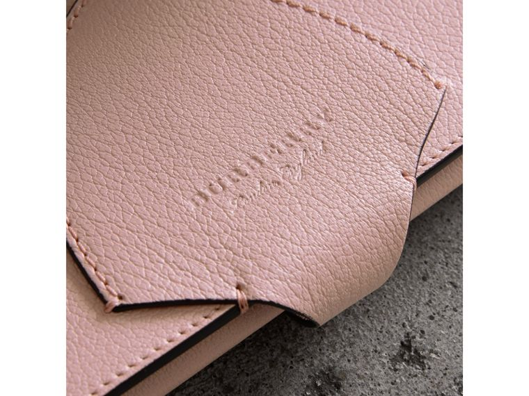 Equestrian Shield Two-tone Leather Continental Wallet in Pale Ash Rose - Women | Burberry Singapore - cell image 1