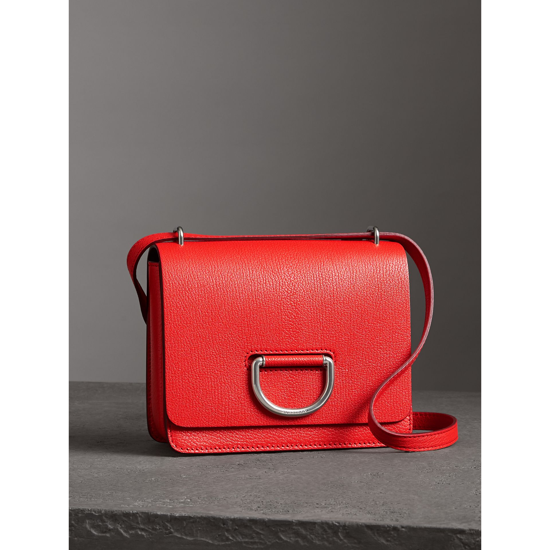 The Small Leather D-ring Bag in Bright Red - Women | Burberry Canada - gallery image 6