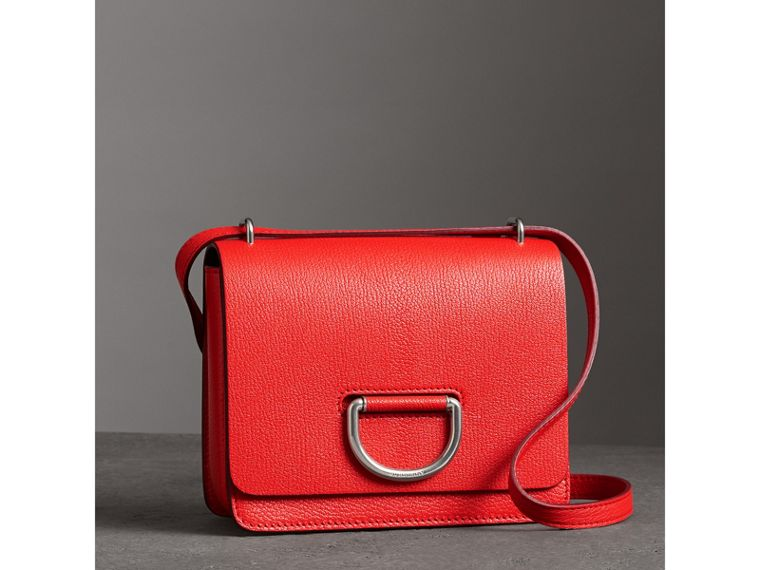 The Small Leather D-ring Bag in Bright Red - Women | Burberry - cell image 4