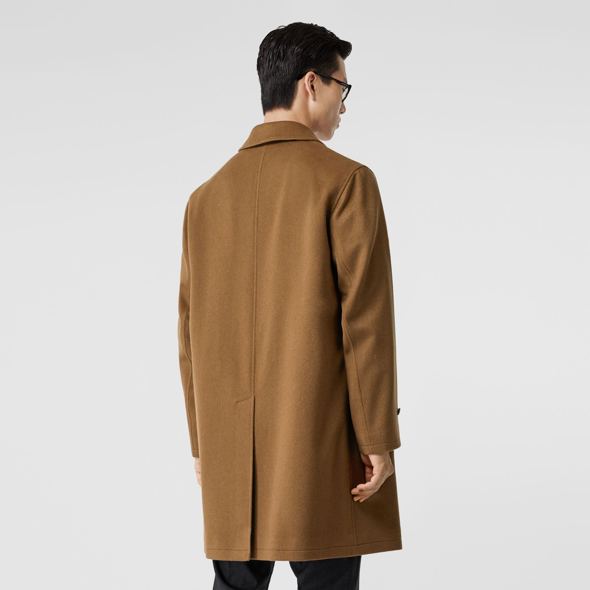 Cashmere Car Coat in Dark Camel - Men | Burberry - gallery image 2