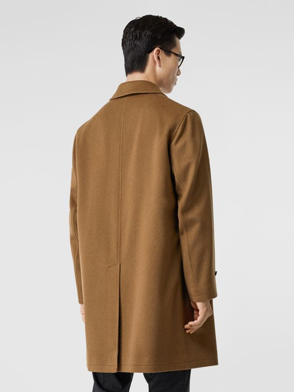 Cashmere Car Coat in Dark Camel - Men | Burberry - cell image 2