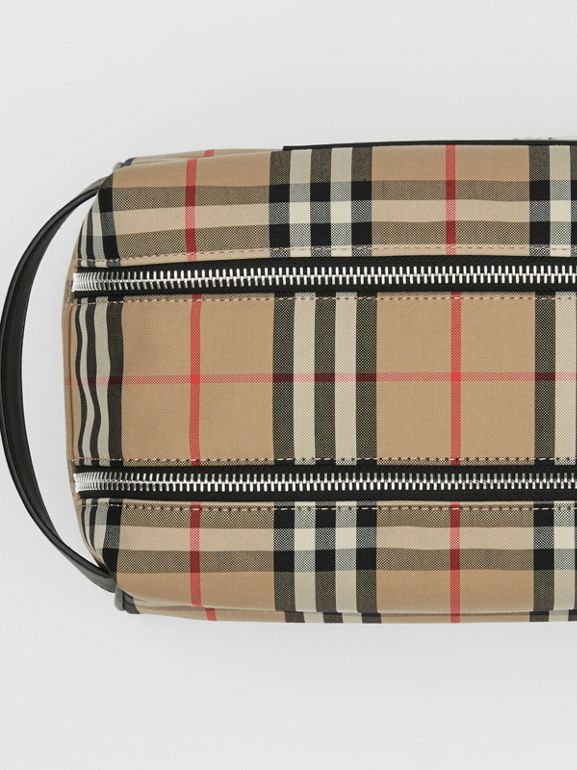 Logo Appliqué Vintage Check Travel Pouch in Archive Beige - Men | Burberry - cell image 1