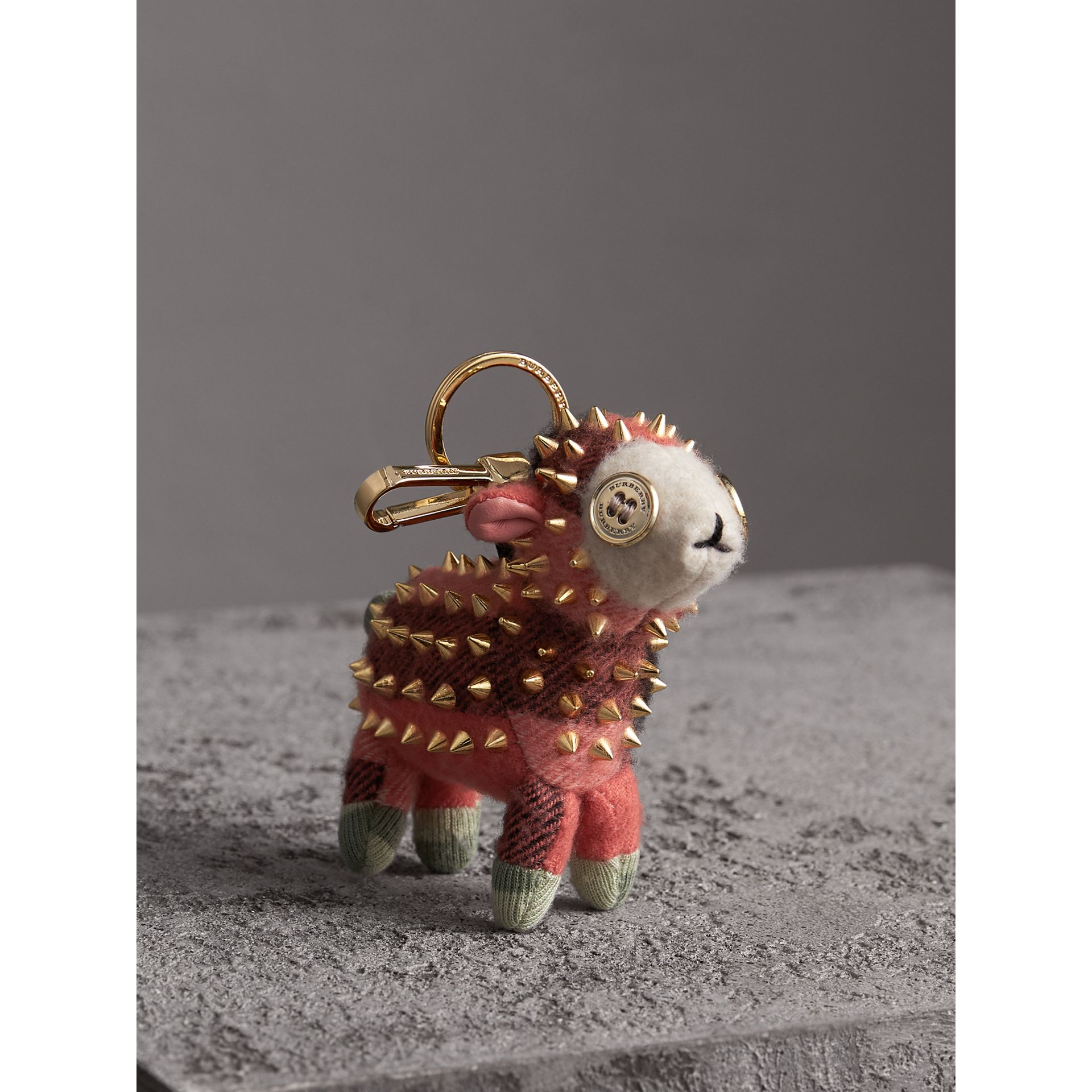 Wendy The Sheep Cashmere Charm in Coral | Burberry - gallery image 1