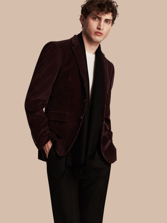 Slim Fit Cotton Corduroy Tailored Jacket