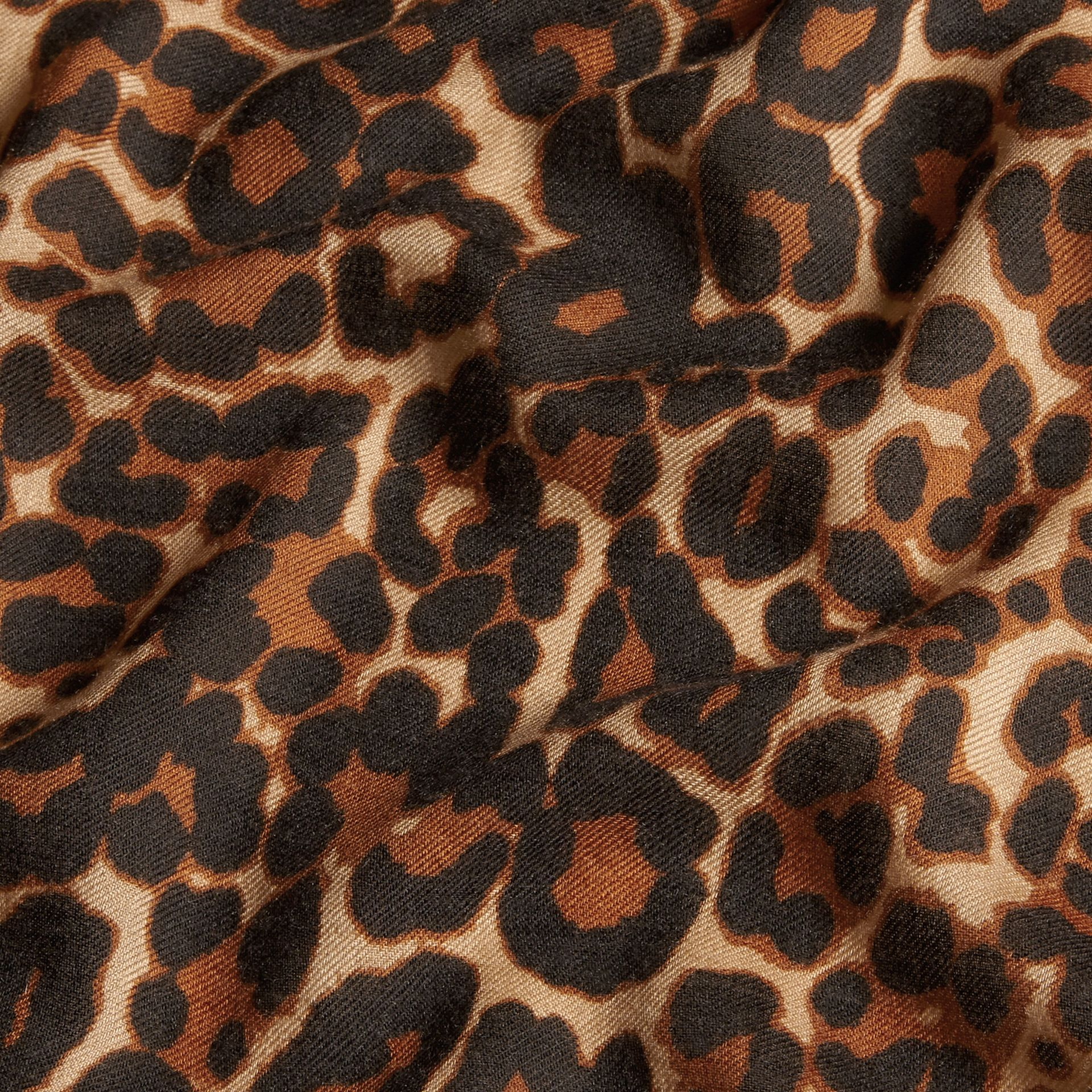 Camel The Lightweight Cashmere Scarf in Animal Print - gallery image 2
