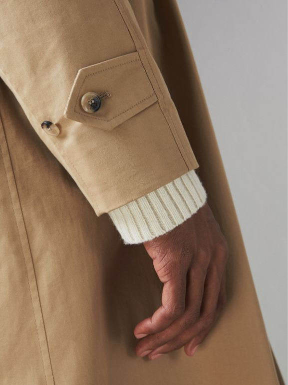 Cotton Gabardine Car Coat in Camel - Men | Burberry Singapore - cell image 1