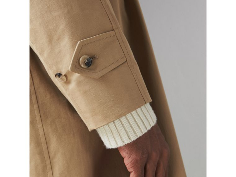 Cotton Gabardine Car Coat in Camel - Men | Burberry - cell image 1