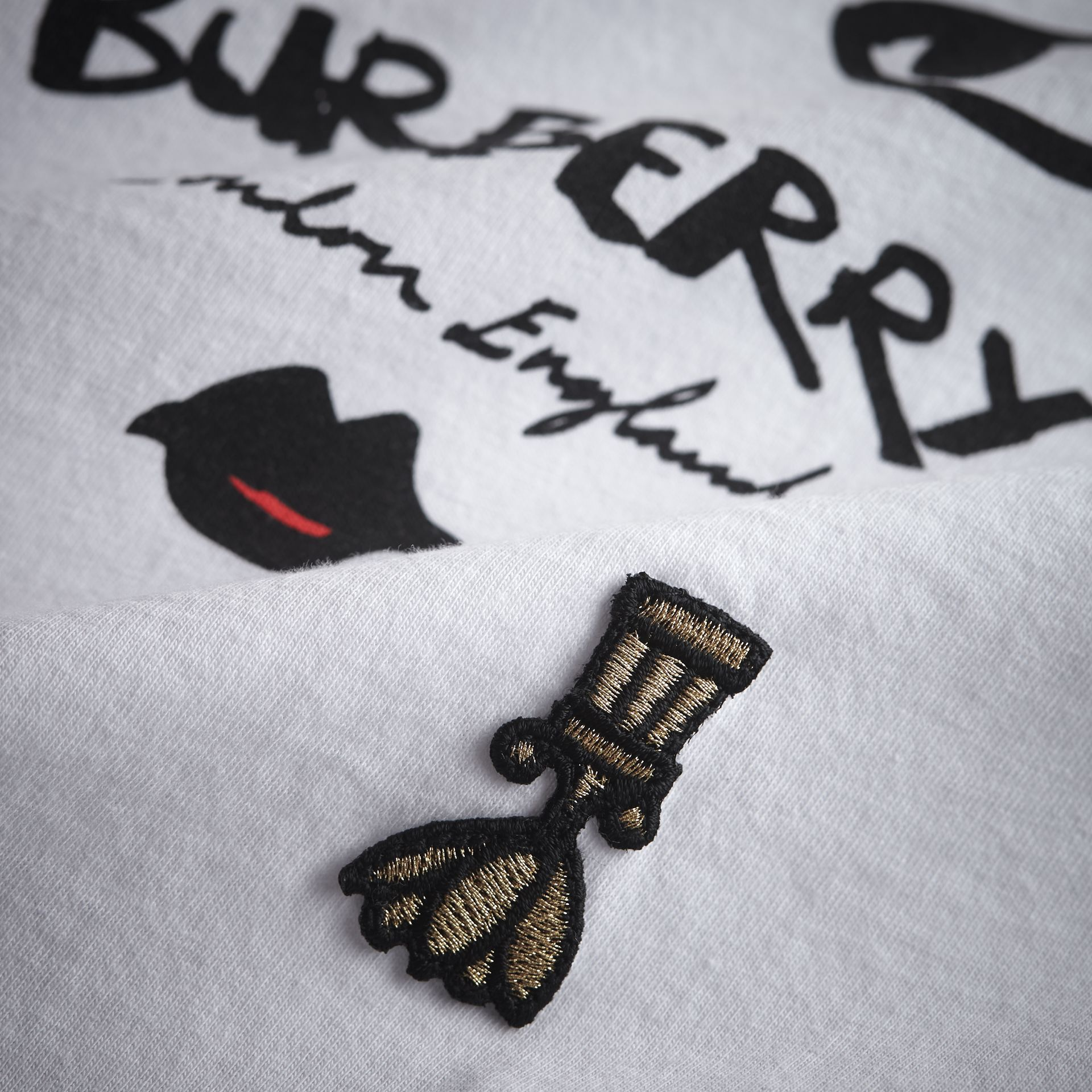 Lady Print Cotton T-shirt in White - Girl | Burberry - gallery image 2