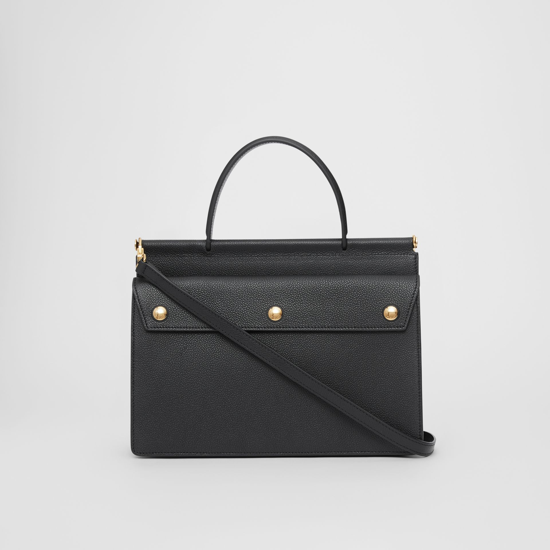 Small Leather Title Bag with Pocket Detail in Black - Women | Burberry Hong Kong S.A.R - gallery image 7