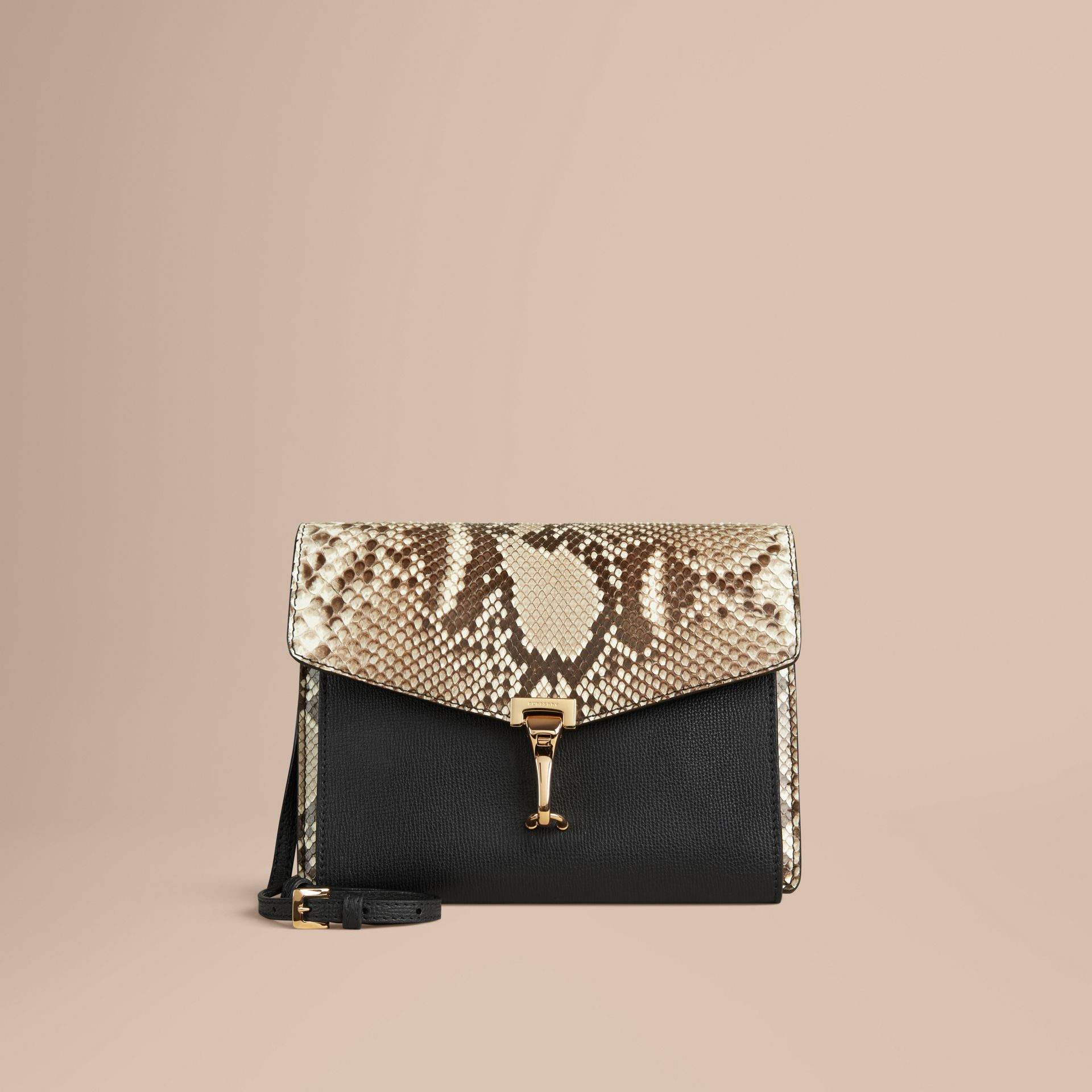 Small Python Crossbody Bag in Natural - Women | Burberry - gallery image 0