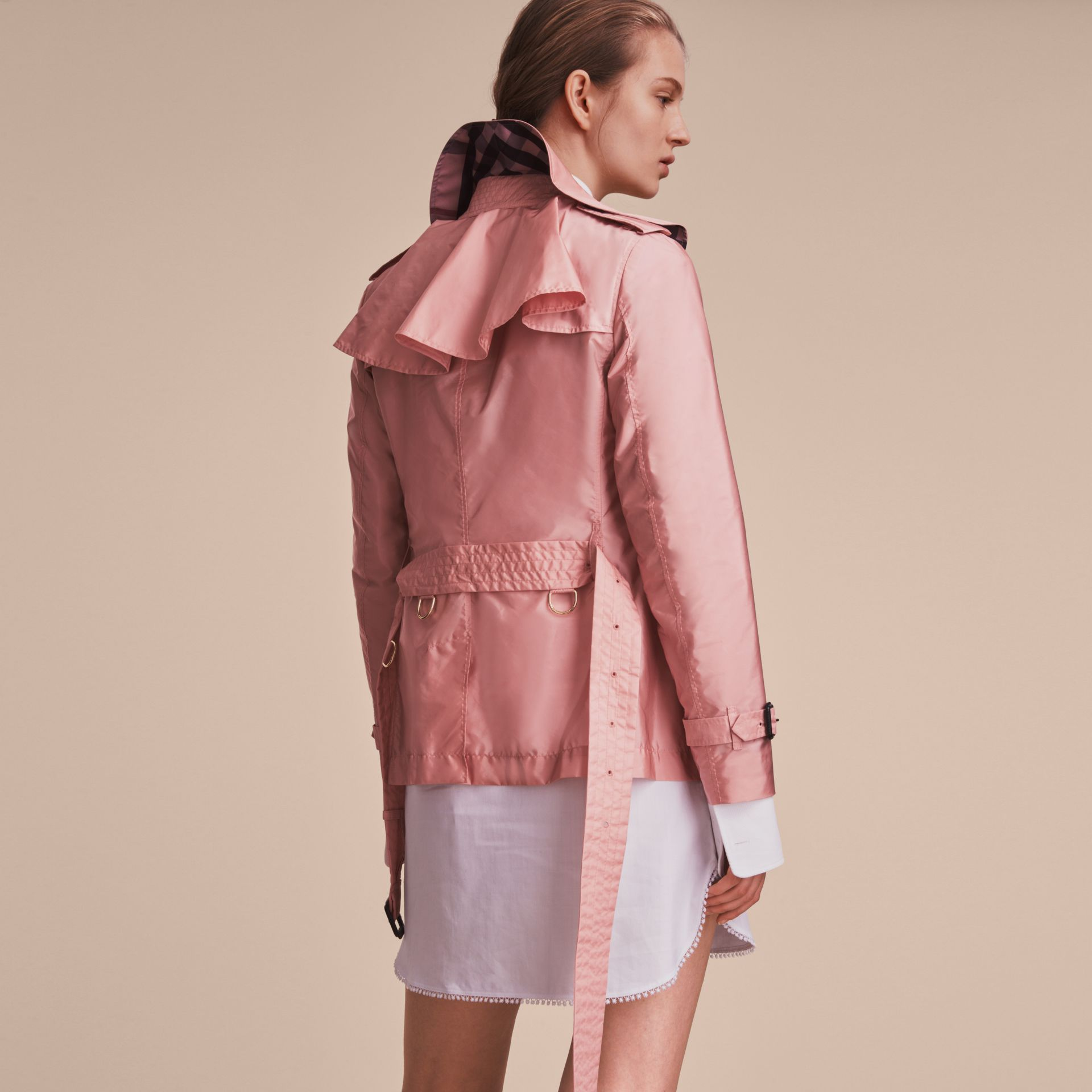 Showerproof Trench Coat in Antique Rose - Women | Burberry United Kingdom - gallery image 3