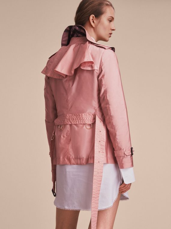 Showerproof Trench Coat in Antique Rose - Women | Burberry - cell image 2