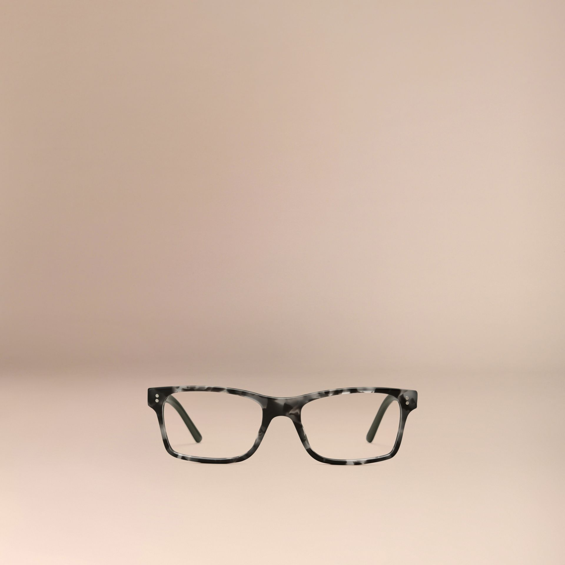 Pale grey melange Rectangular Optical Frames Pale Grey Melange - gallery image 5
