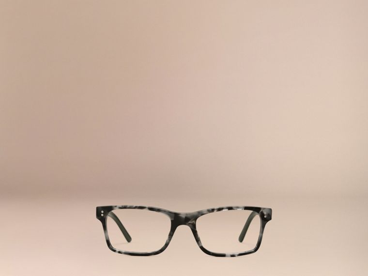 Pale grey melange Rectangular Optical Frames Pale Grey Melange - cell image 4