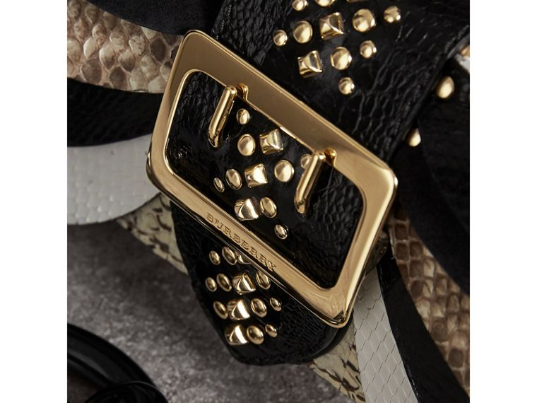 The Small Buckle Bag in Leather and Snakeskin Appliqué - Women | Burberry - cell image 1