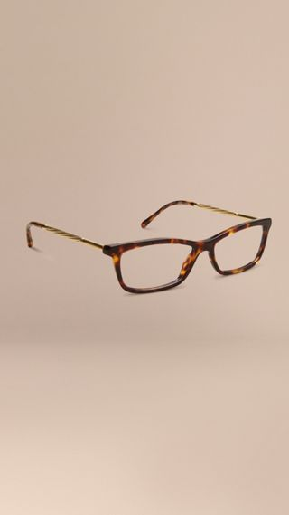 Metallic Detail Cat-eye Optical Frames