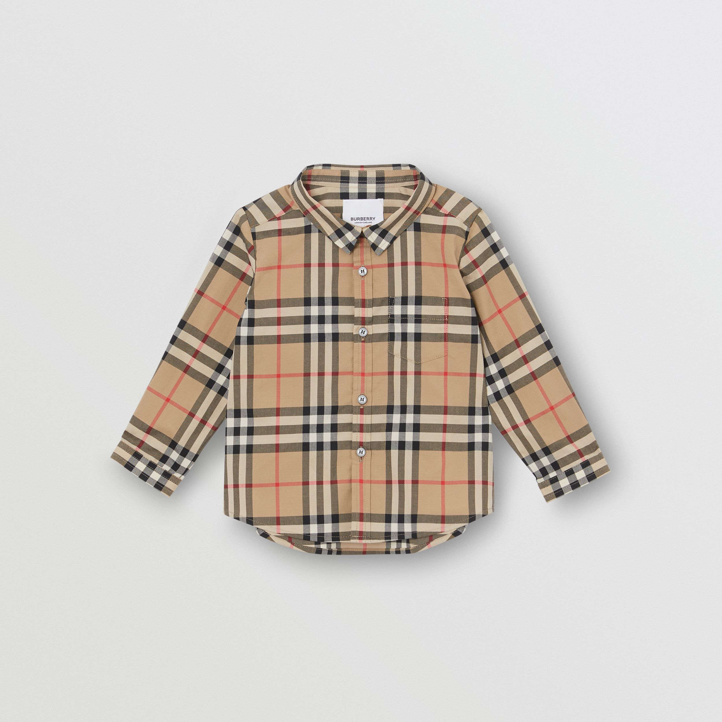 Vintage Check Cotton Shirt in Archive Beige - Children | Burberry Canada - 1