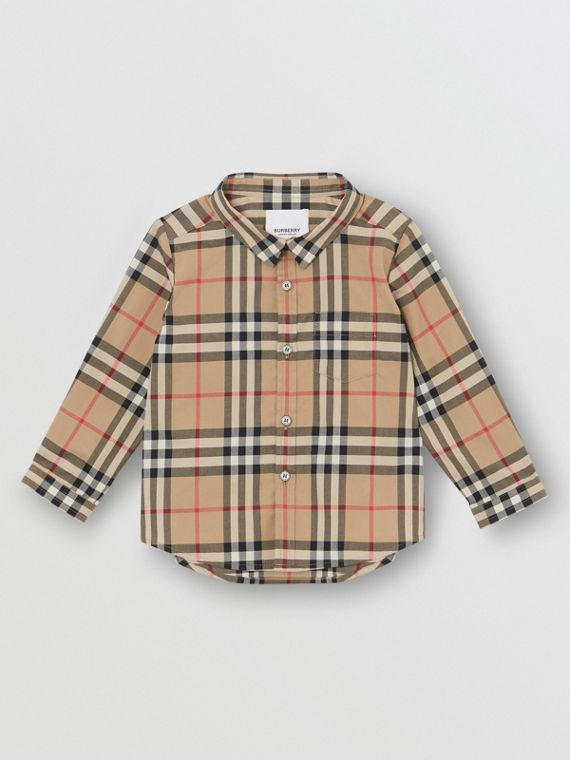 Vintage Check Cotton Shirt in Archive Beige