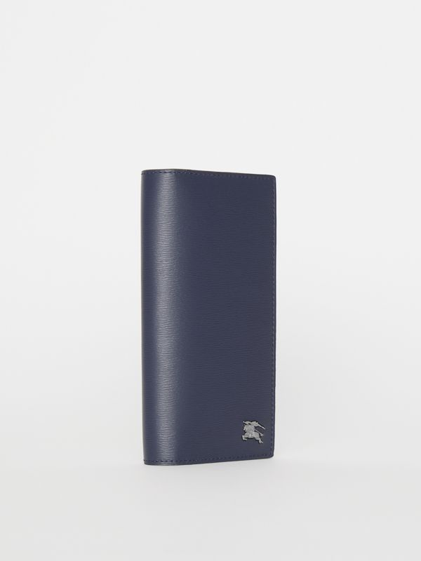London Leather Continental Wallet in Navy - Men | Burberry Singapore - cell image 2