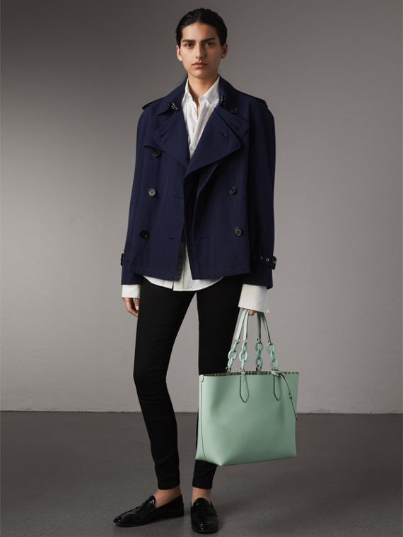 The Medium Reversible Tote with Resin Chain in Pale Opal - Women | Burberry Australia - cell image 2
