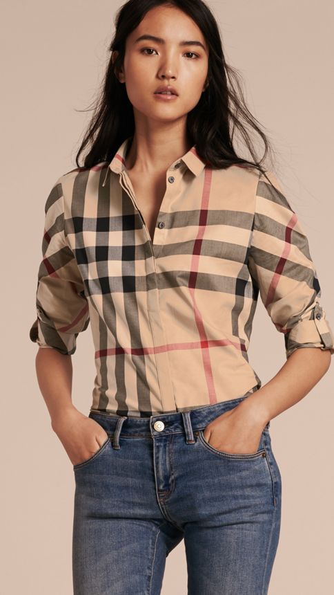 New classic check Stretch-Cotton Check Shirt - Image 6